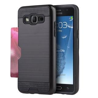 Samsung Galaxy ON5 Hybrid Black TPU Card-to-Go Case with Silk Back Plate