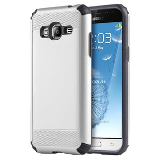 Samsung Galaxy J3 (2015) Silkee Armor Anti-Shock PC + TPU Dual Hybrid Case