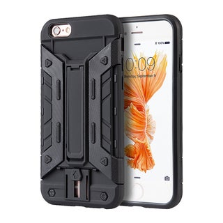 Apple iPhone 6/6S Black TPU/Colored PC Transformer Hybrid Case With Card Slot and Ejection Switch