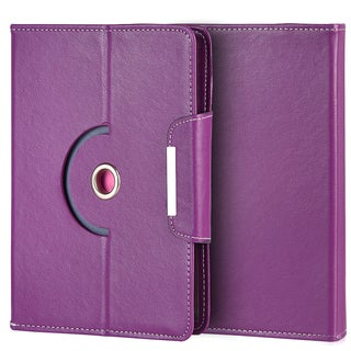Universal 8-inches Rotation Stand Tablet Folio Cover with ID and Card Holders