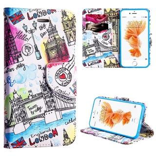 Apple iPhone 6 / 6S Leather ' Escape To London' Flip Wallet Case