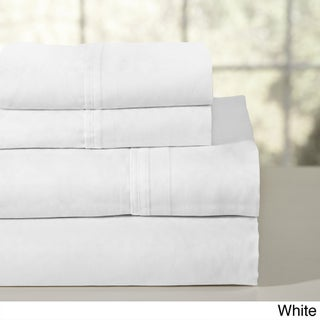 Oliver & James Noe Combed Cotton Percale Sheet Set (Option: King - White - 4 Piece)