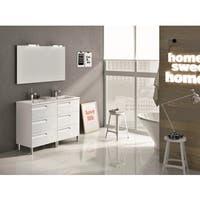 Eviva Vitale White 48-inch Modern Bathroom Vanity with White Integrated Porcelain Sink