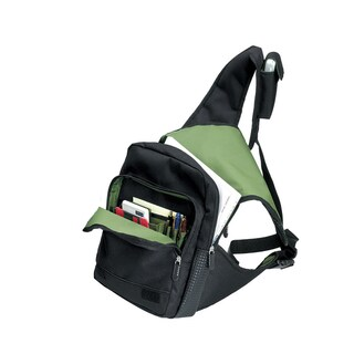 Goodhope Flash Jr. Black/Green Nylon/Polyester Body Messenger Bag