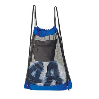 Goodhope Blue/Black Mesh Drawstring Backpack