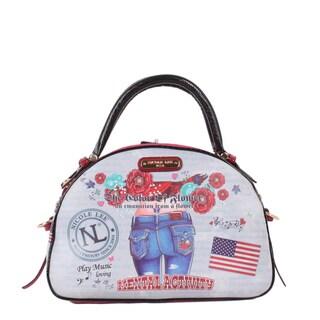 Nicole Lee Muneca Lucia Print Bowler Handbag