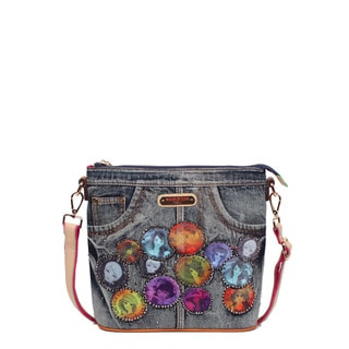 Nicole Lee Muneca Cotton-blend Patch Crossbody Handbag