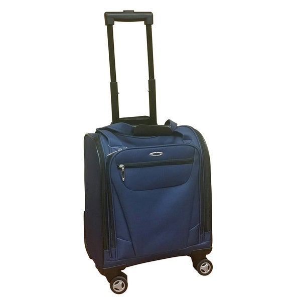 Kemyer Under Seater Navy Carry-on Spinner Tote Bag - Free ...