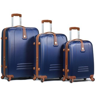 Dejuno Fusion 3-piece Hardside Spinner TSA Combination Lock Luggage Set