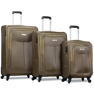 Dejuno Legacy 3-Piece Softside Lightweight Spinner Upright Luggage Set
