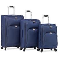 Dejuno Brava 3-Piece Softside Lightweight Spinner Upright Luggage Set