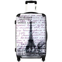 iKase 'Grey Eiffel Tour'  Check-in 24-inch,Hardside Spinner Suitcase
