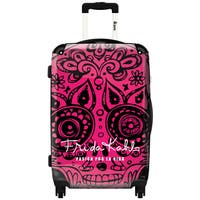 iKase 'Frida Kahlo Skull Head Pink' ,Check-in 24-inch .Hardside Spinner Luggage