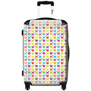 iKase 'Hugs and Kisses' 20-inch Fashion Hardside Carry-on Spinner Suitcase