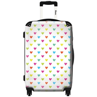 iKase 'Love Hearts' 20-inch Fashion Hardside Carry-on Spinner Suitcase