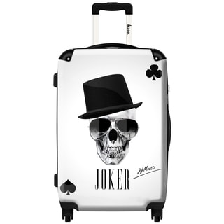iKase 'Skull Joker' 20-inch Fashion Hardside Carry-on Spinner Suitcase