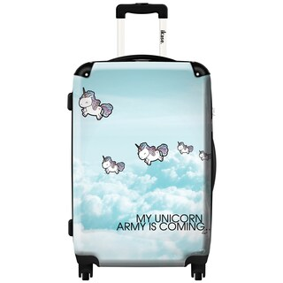 iKase 'Unicorns' ,Carry-on 20-inch,Hardside, Spinner Suitcase
