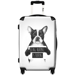 iKase 'Being Normal Is Boring' 20-inch Fashion Hardside Carry-on Spinner Suitcase