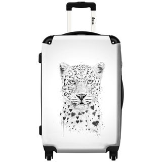 iKase 'Lovely Leopard' 20-inch Fashion Hardside Carry-on Spinner Suitcase