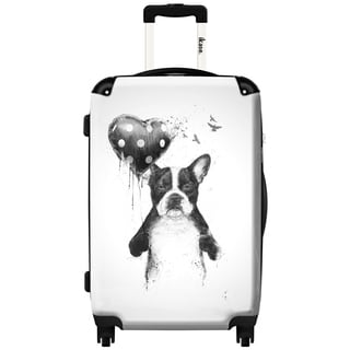 iKase 'My Heart Goes Boom' 20-inch Fashion Hardside Carry-on Spinner Suitcase