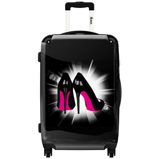 iKase 'Pink Soles' 20-inch Fashion Hardside Carry-on Spinner Suitcase