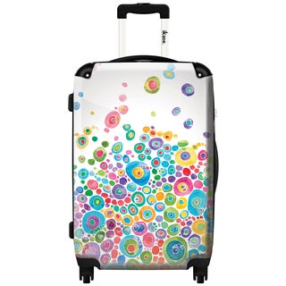 iKase 'Inner Circle White 2' 20-inch Fashion Hardside Carry-on Spinner Suitcase