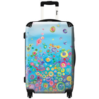 iKase 'Inner Circle Blue' 20-inch Fashion Hardside Carry-on Spinner Suitcase