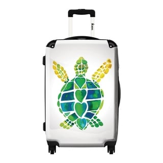 iKase 'Turtle Love' 20-inch Fashion Hardside Carry-on Spinner Suitcase