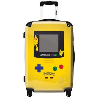 iKase 'Game Boy Yellow Pokemon' 20-inch Fashion Hardside Carry-on Spinner Suitcase