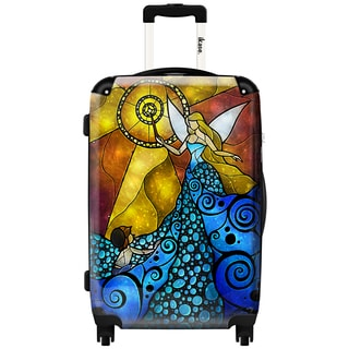 iKase 'Fairy Blue' 20-inch Fashion Hardside Carry-on Spinner Suitcase