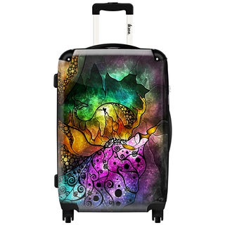 iKase 'The Sleeping Beauty' 20-inch Fashion Hardside Carry-on Spinner Suitcase