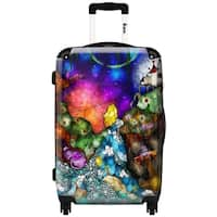 iKase 'Wonderland'  ,Carry-on 20-inch,Hardside, Spinner Suitcase