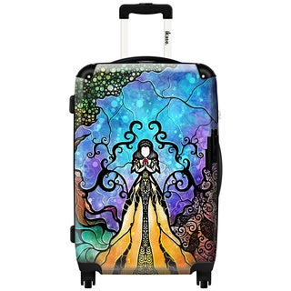 iKase 'One Little Bite' 20-inch Fashion Hardside Carry-on Spinner Suitcase