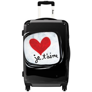 iKase 'Je T'aime' 20-inch Fashion Hardside Carry-on Spinner Suitcase