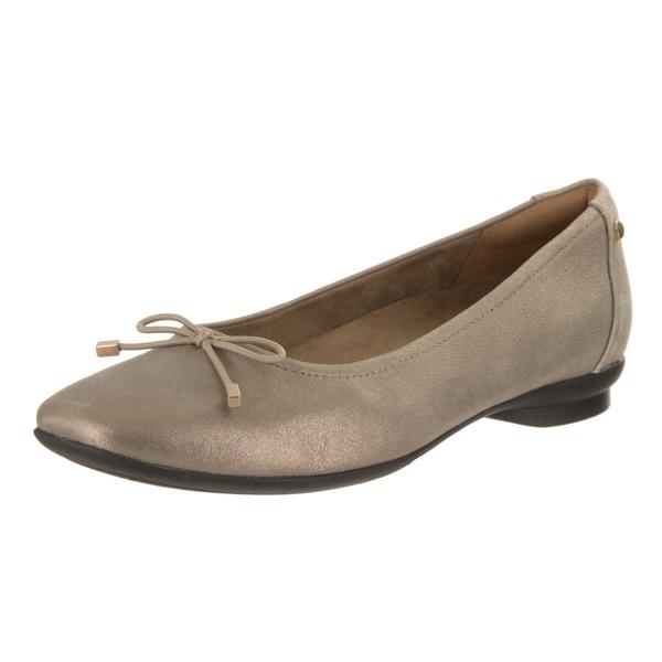e9c04af844cd Women  x27 s Clarks Candra Light Ballet Flat Champagne Metallic Goat Full  Grain Leather