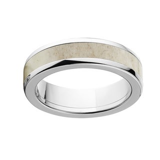 Men's Titanium Antler 6-millimeter Domed Band Ring