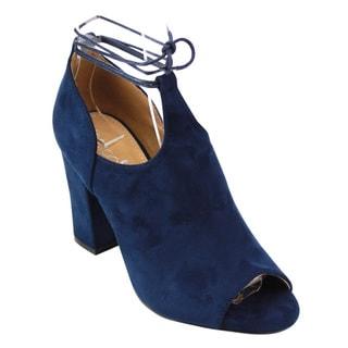 NATURE BREEZE FE14 Women's Fringe Zip Low Block Heel Ankle Bootie One Size Small