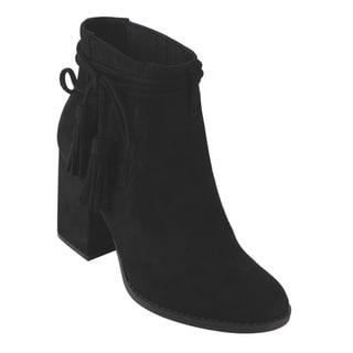 Betani FD18 Women's Block-heel Tassel Ankle Booties
