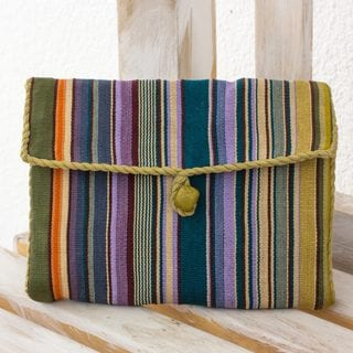 Handcrafted Cotton 'Rainbow' Jewelry Case (Guatemala)