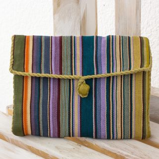 Handmade Cotton 'Rainbow' Jewelry Case (Guatemala)