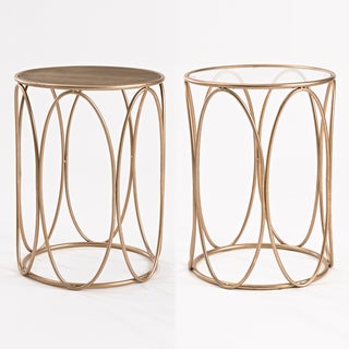 InnerSpace Oval Rose Goldtone Side Table