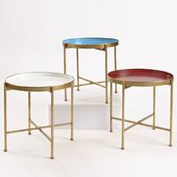 InnerSpace Large Gold Folding Tray Table