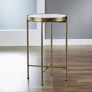 InnerSpace Small Gold Folding Tray Table & Table Sets Coffee Console Sofa \u0026 End Tables For Less | Overstock