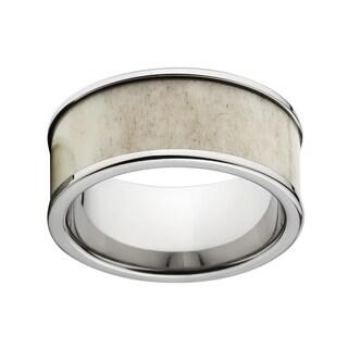 Titanium Flat Antler Ring