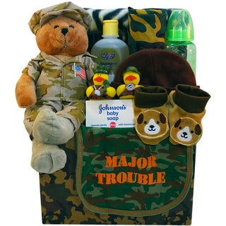 Art of Appreciation Major Trouble Proud to Be an American Baby Gift Basket