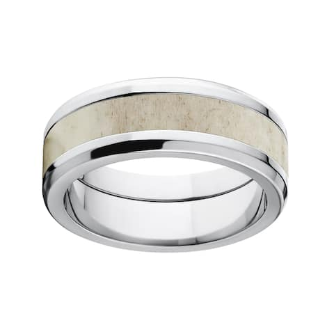8mm Titanium Tapered Antler Ring