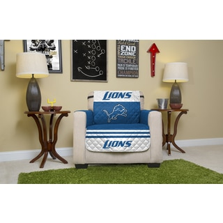 Detroit Lions Licensed NFL White/Blue Chair Protector