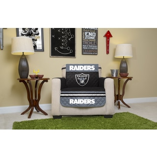 Oakland Raiders Multicolored Polyester Licensed NFL Chair Protector