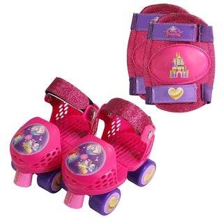 Bravo Playwheels Girls' Roller Skates in Junior Sizes 6 to 12 with Kneepads