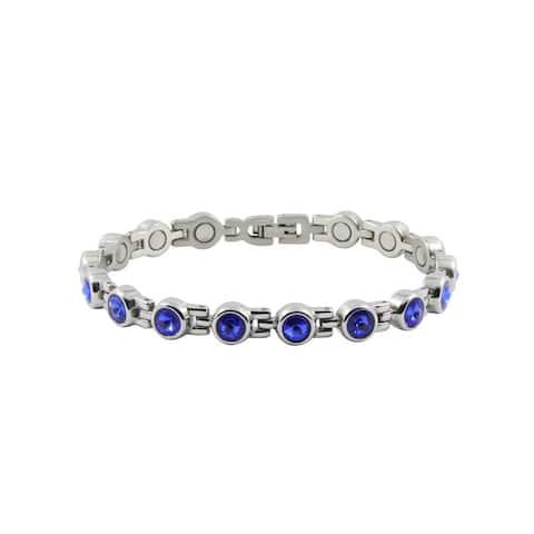 Sapphire Magnetic Round Bracelet